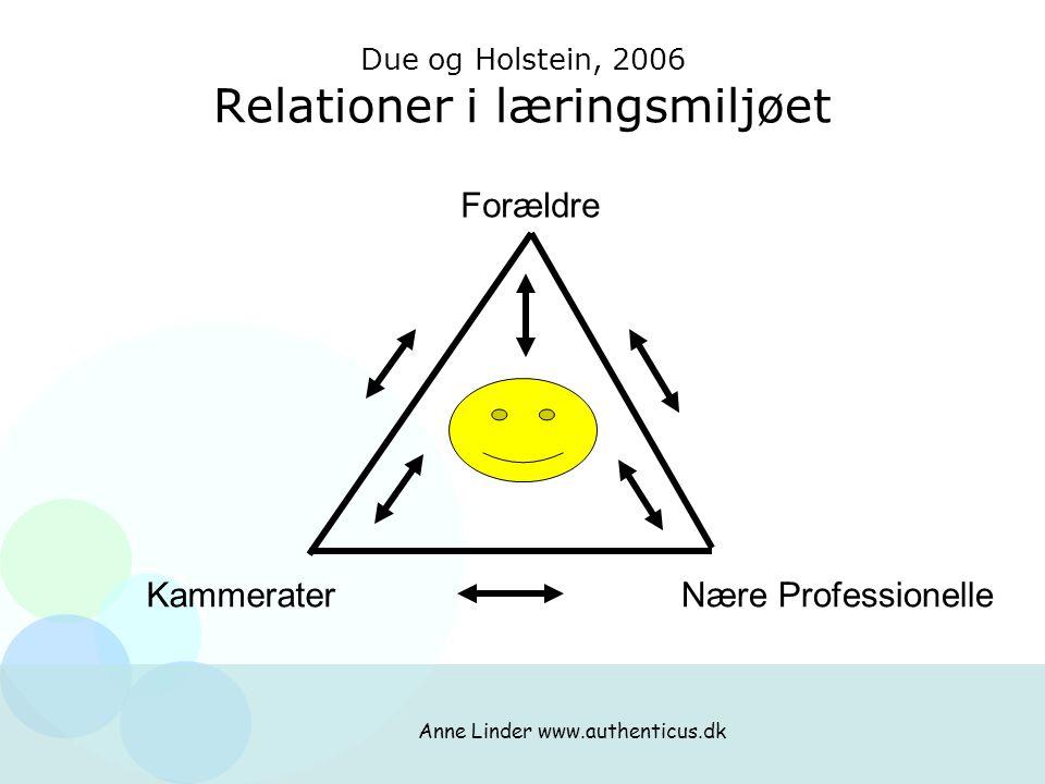 Due og Holstein, 2006 Relationer i læringsmiljøet