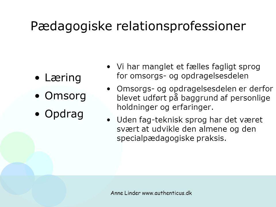 Pædagogiske relationsprofessioner