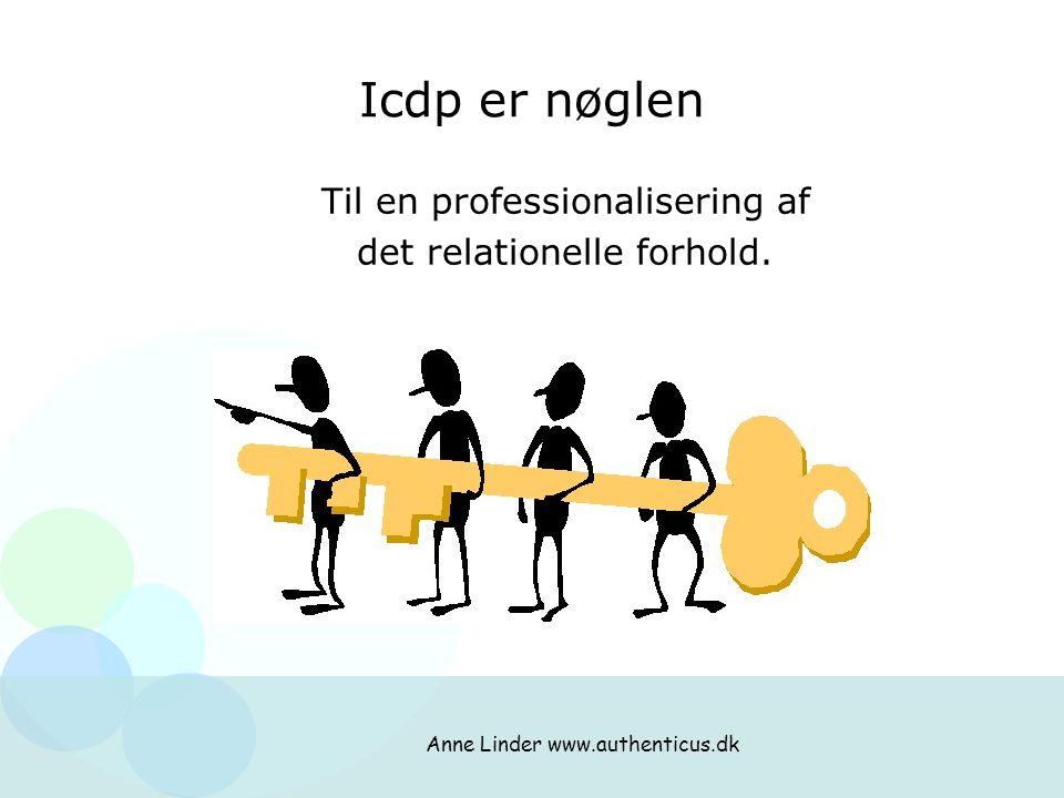 Icdp er nøglen Til en professionalisering af det relationelle forhold.