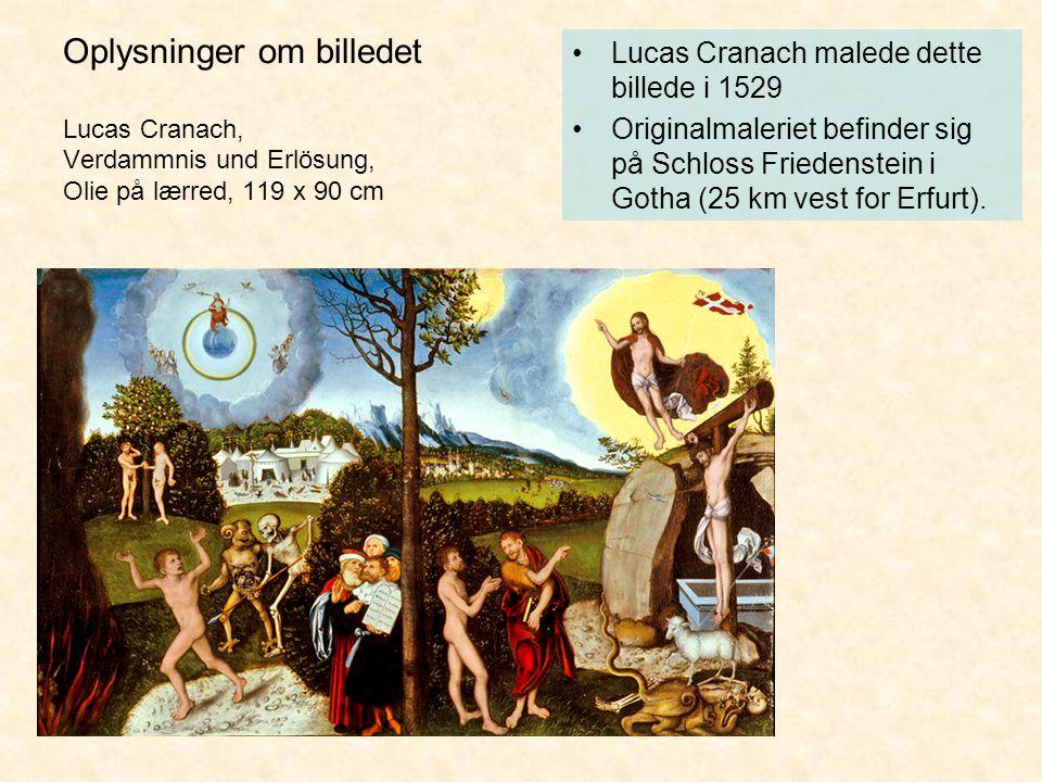 Oplysninger om billedet Lucas Cranach, Verdammnis und Erlösung, Olie på lærred, 119 x 90 cm