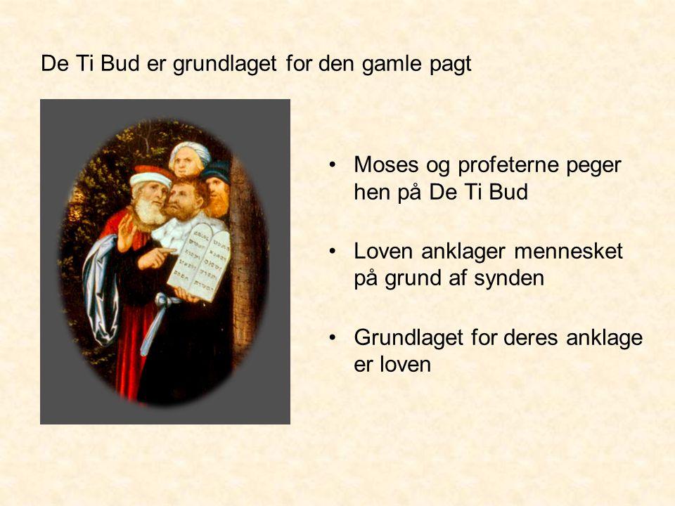De Ti Bud er grundlaget for den gamle pagt