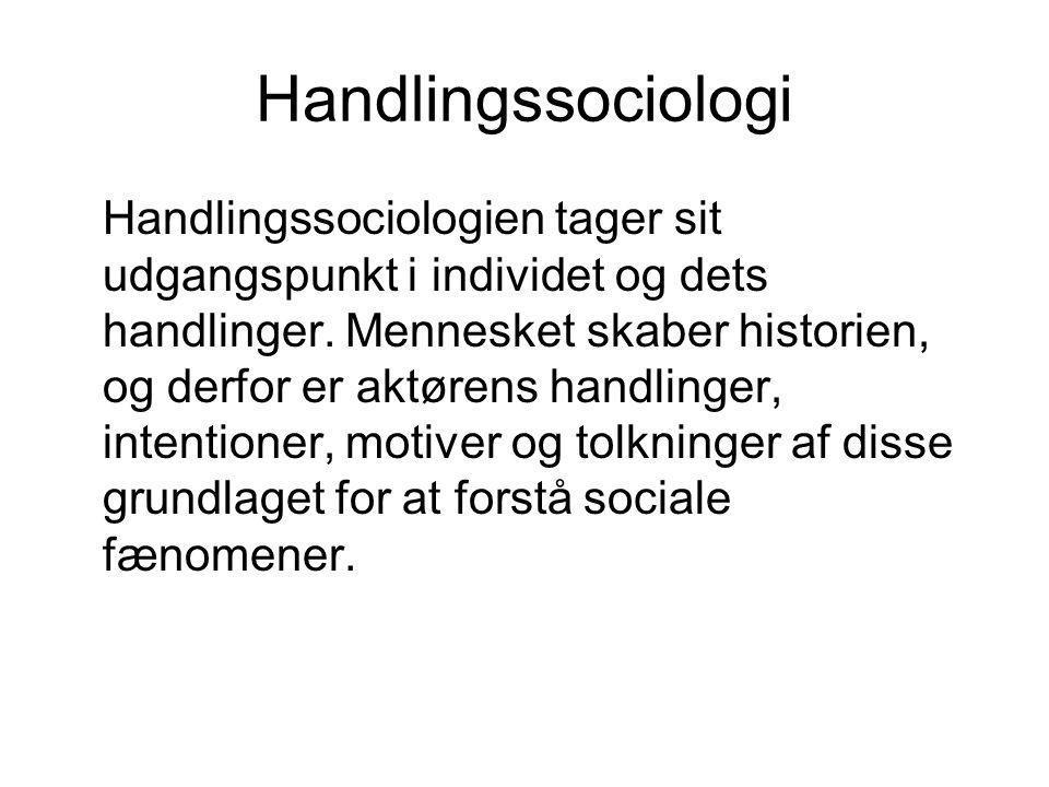 Handlingssociologi