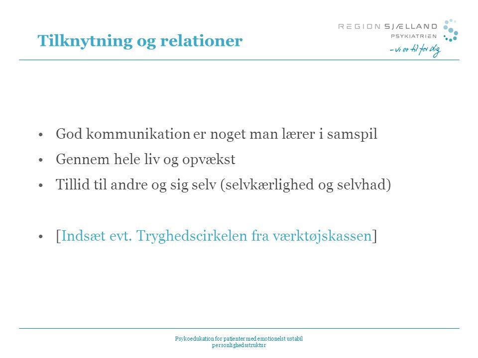 Tilknytning og relationer