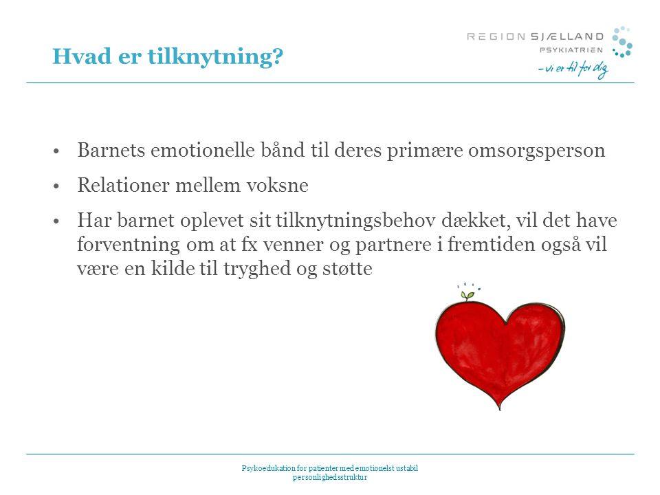 Hvad er tilknytning Barnets emotionelle bånd til deres primære omsorgsperson. Relationer mellem voksne.