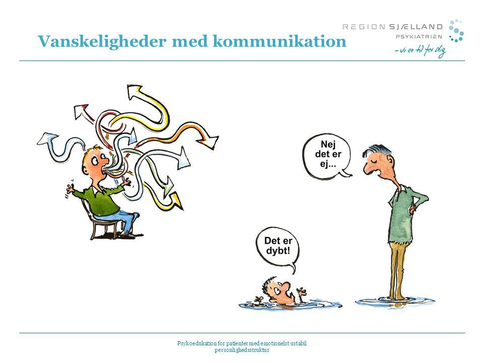 Vanskeligheder med kommunikation