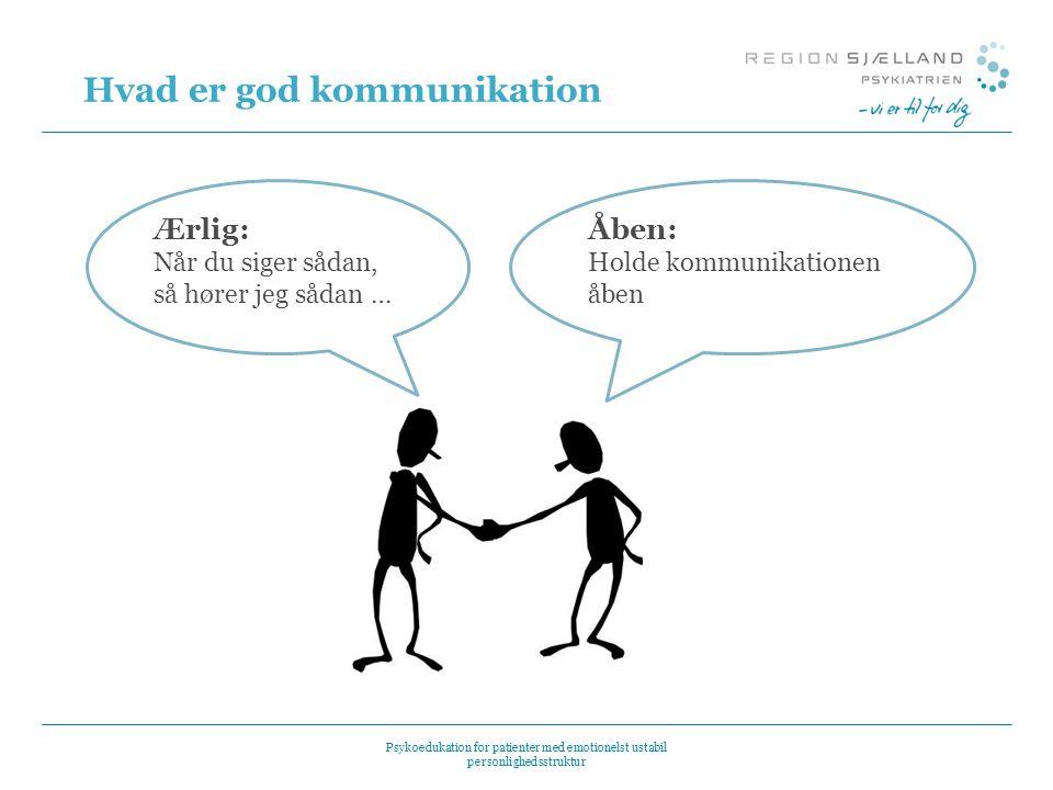 Hvad er god kommunikation