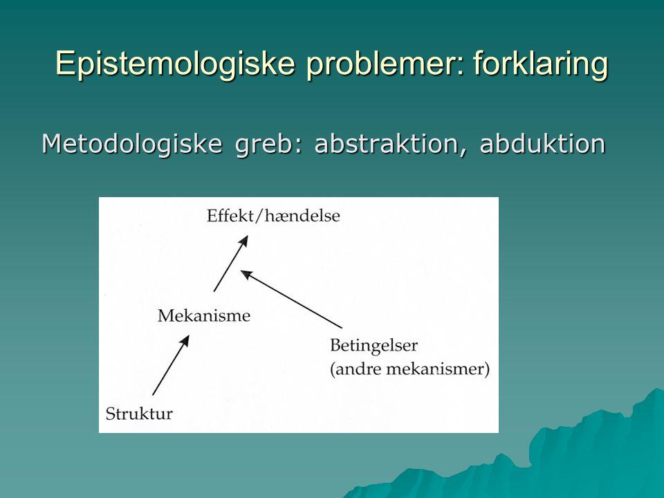 Epistemologiske problemer: forklaring