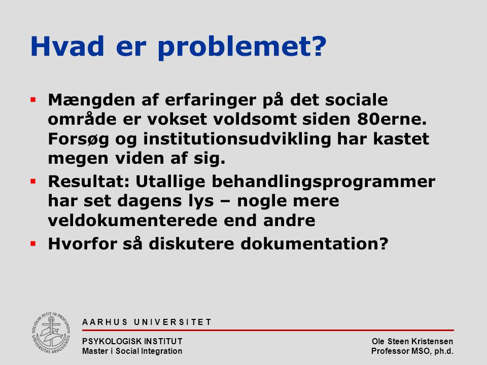 Hvad er problemet