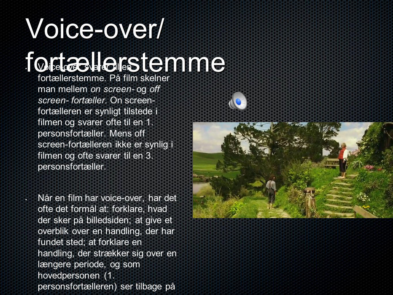 Voice-over/ fortællerstemme