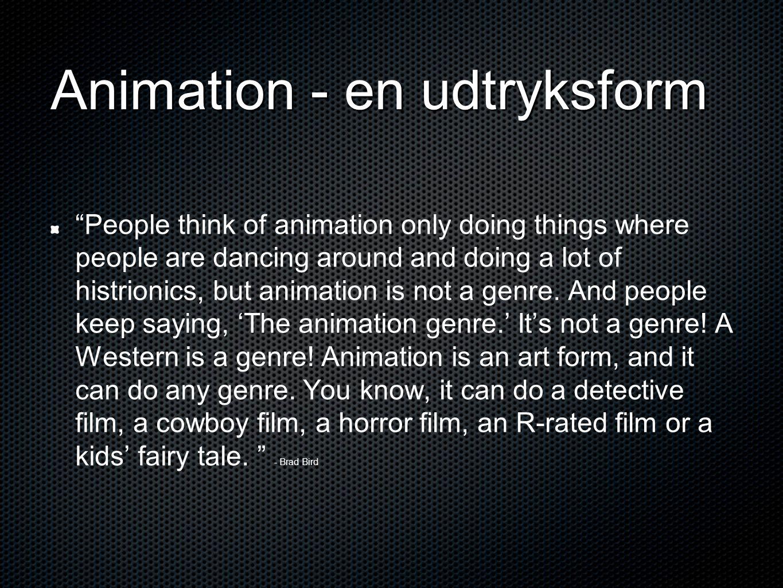 Animation - en udtryksform