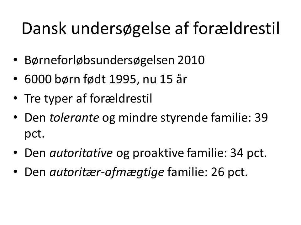 Dansk undersøgelse af forældrestil