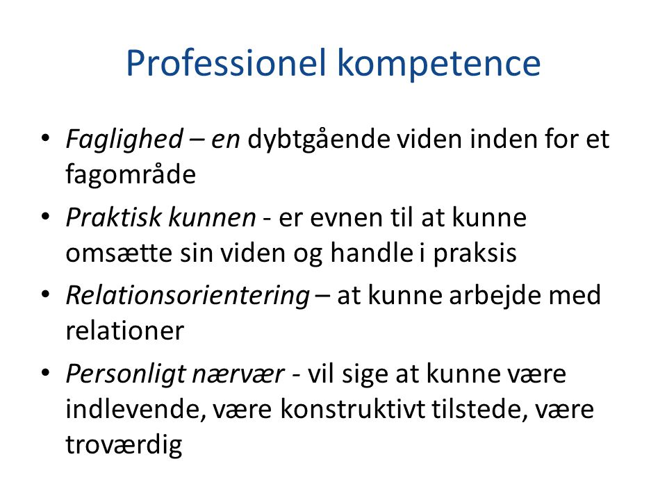 Professionel kompetence