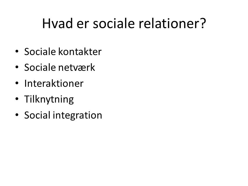 Hvad er sociale relationer