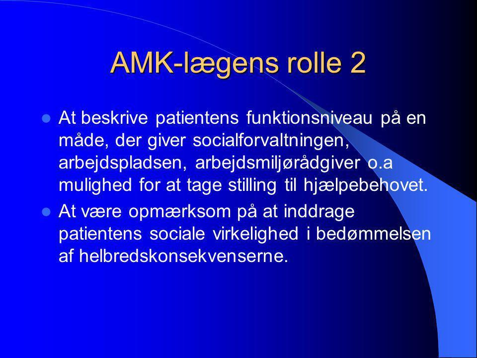 AMK-lægens rolle 2