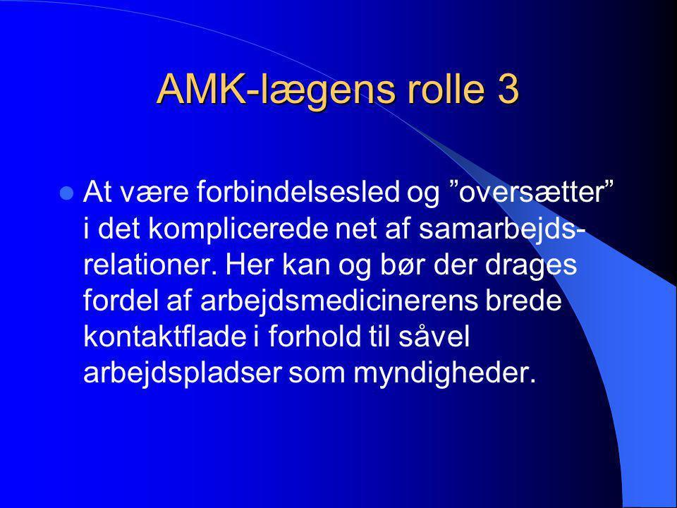 AMK-lægens rolle 3