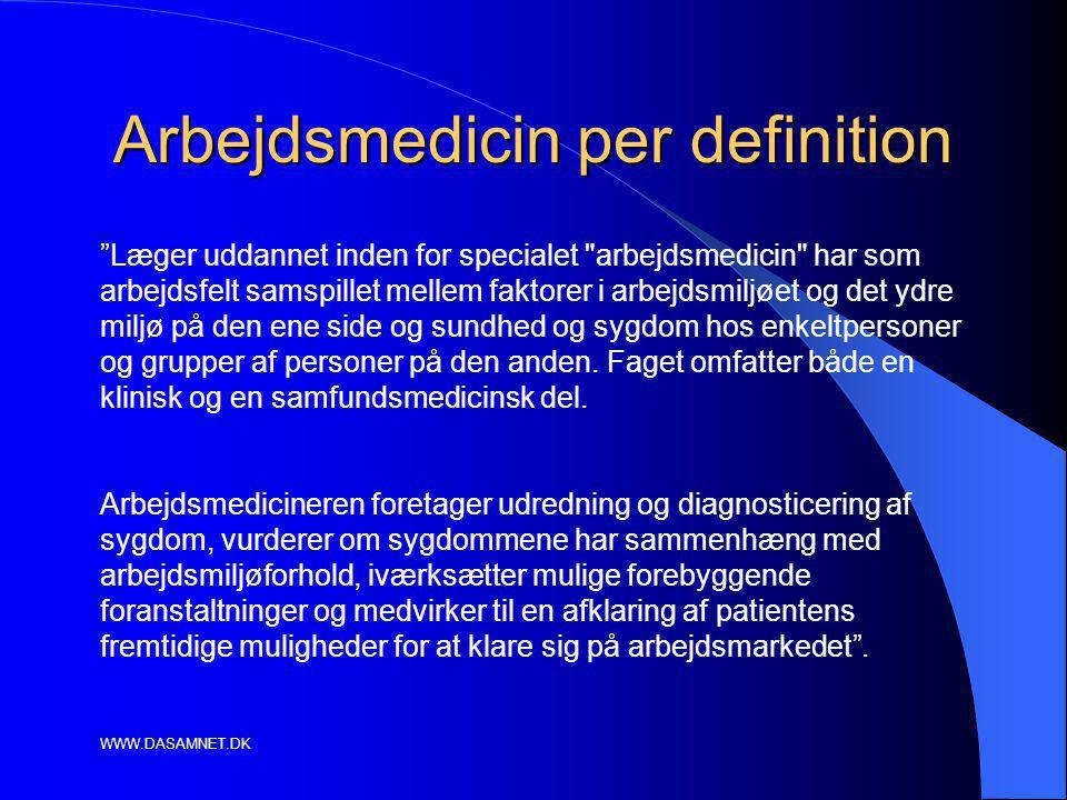 Arbejdsmedicin per definition