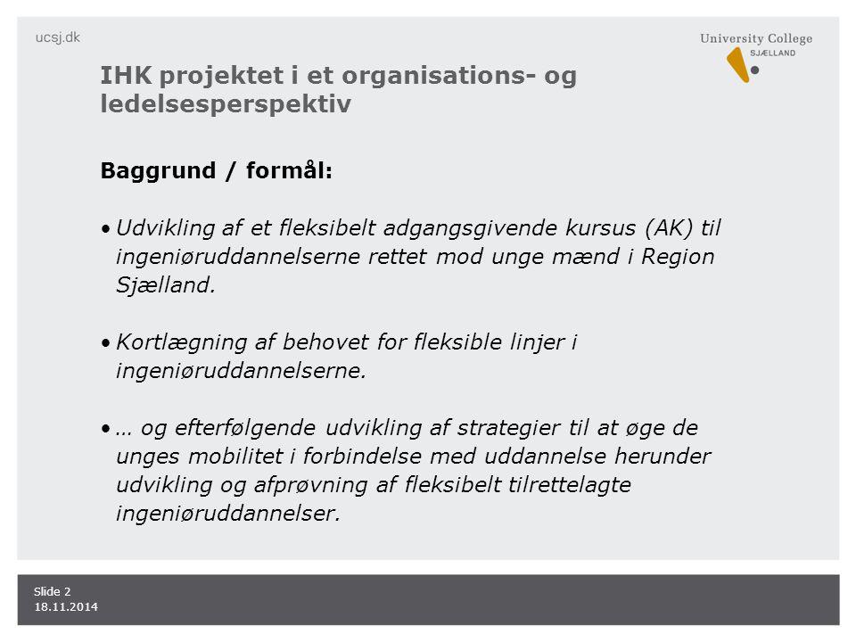 IHK projektet i et organisations- og ledelsesperspektiv