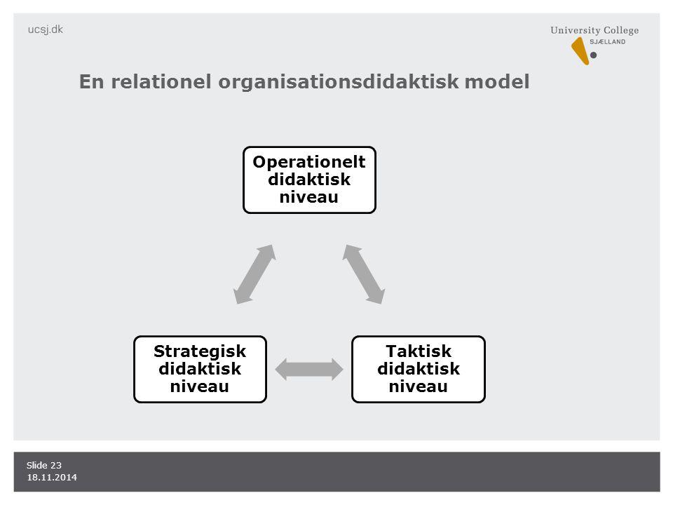 En relationel organisationsdidaktisk model