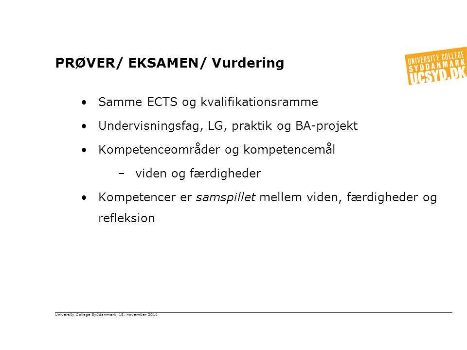 PRØVER/ EKSAMEN/ Vurdering