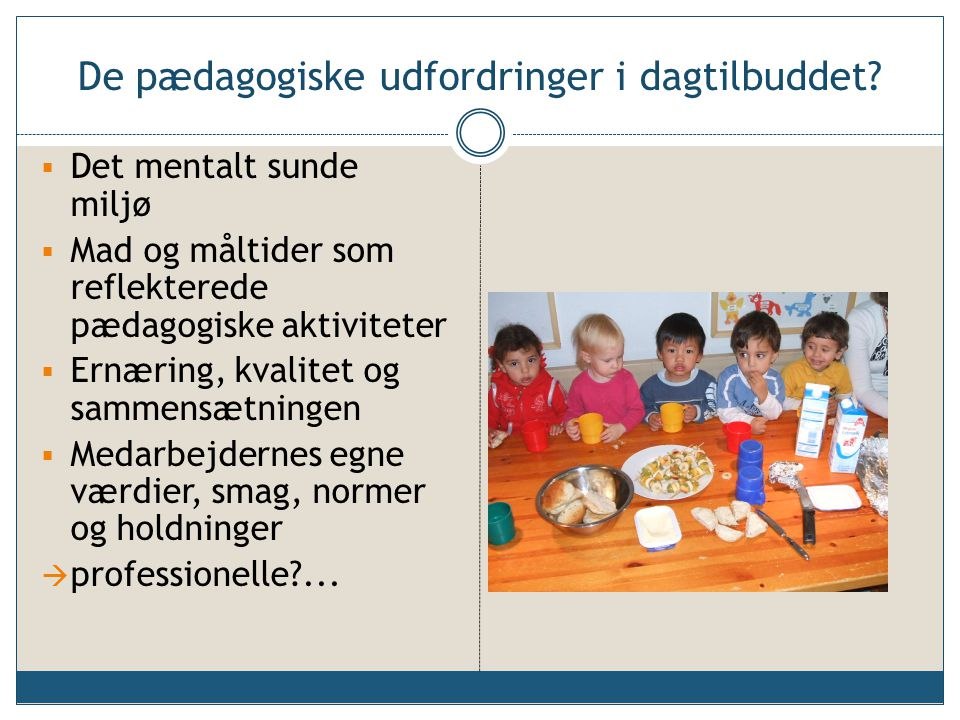 De pædagogiske udfordringer i dagtilbuddet