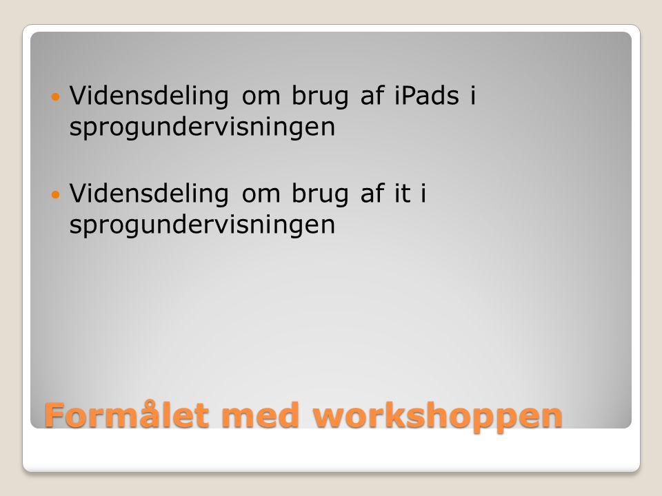Formålet med workshoppen