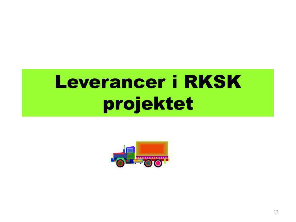 Leverancer i RKSK projektet