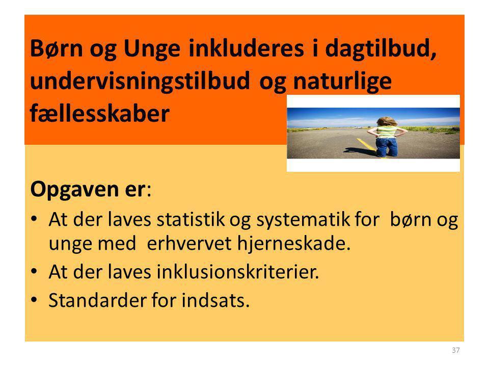 Børn og Unge inkluderes i dagtilbud, undervisningstilbud og naturlige fællesskaber