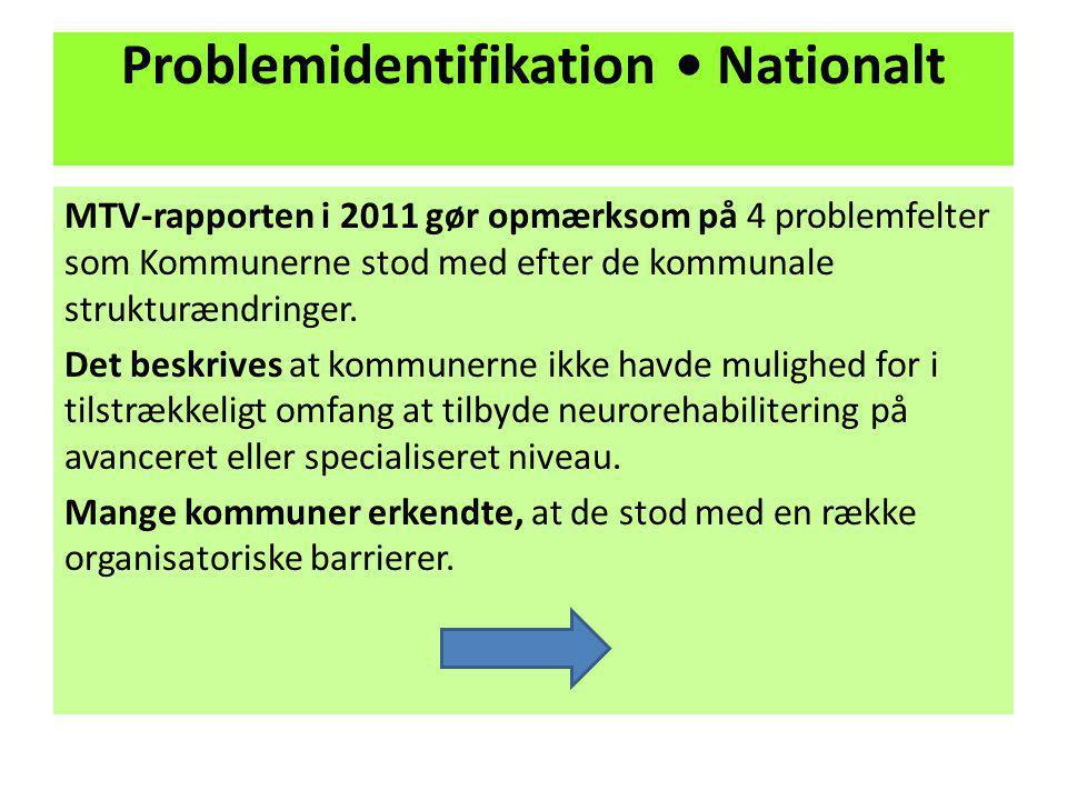 Problemidentifikation • Nationalt