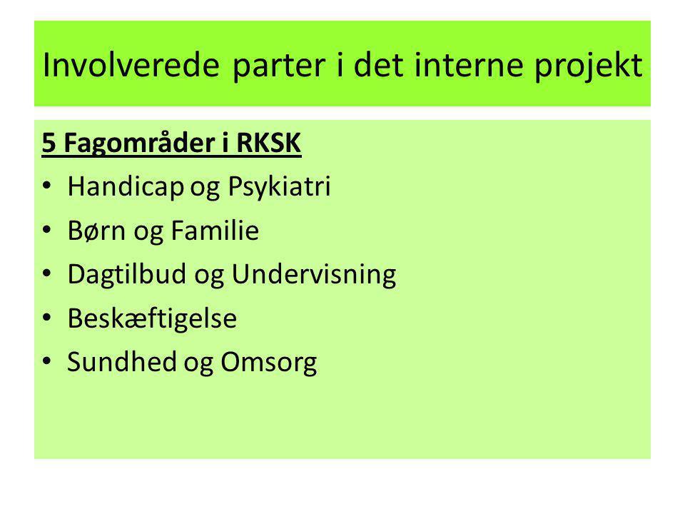 Involverede parter i det interne projekt