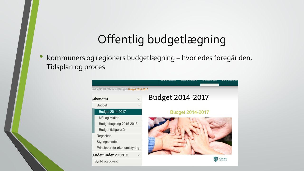 Offentlig budgetlægning