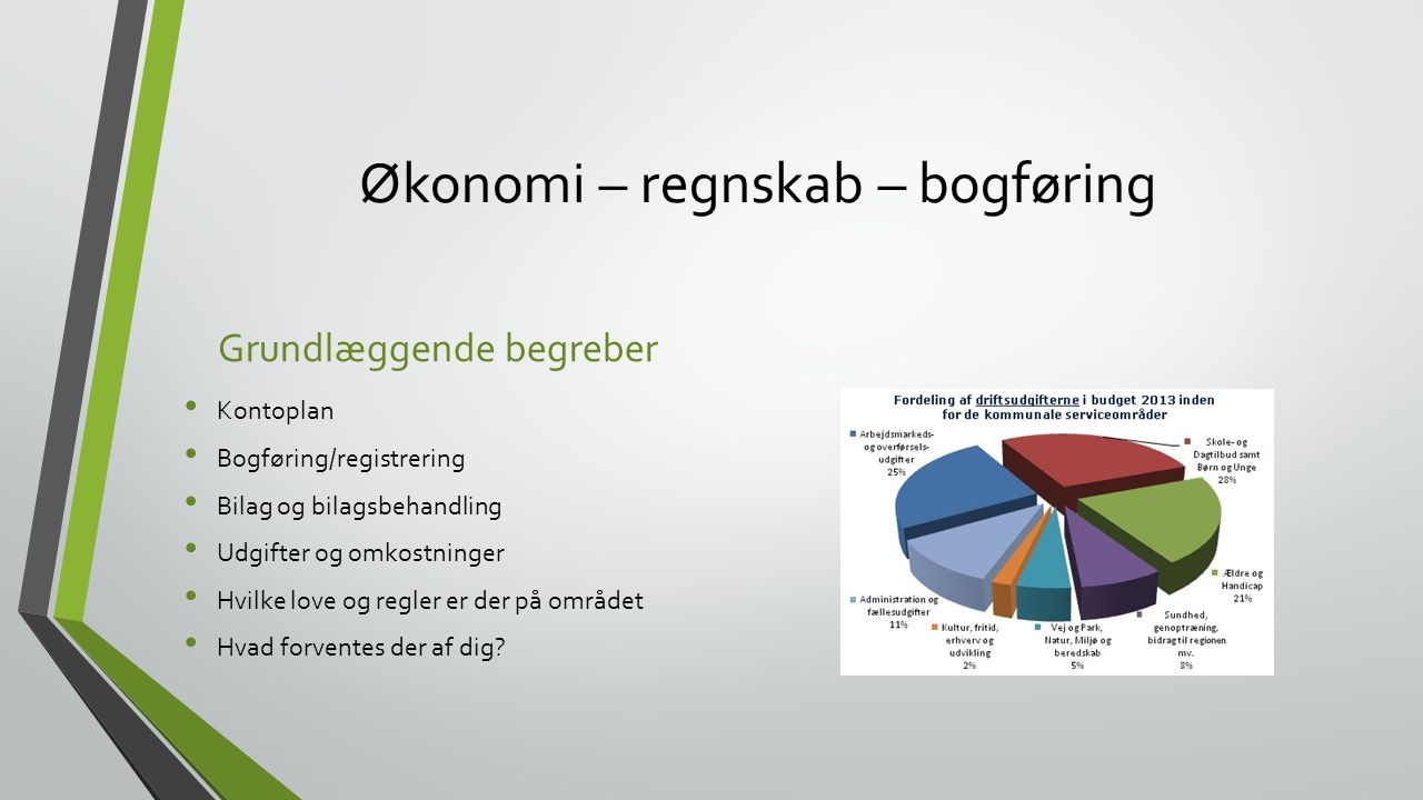 Økonomi – regnskab – bogføring