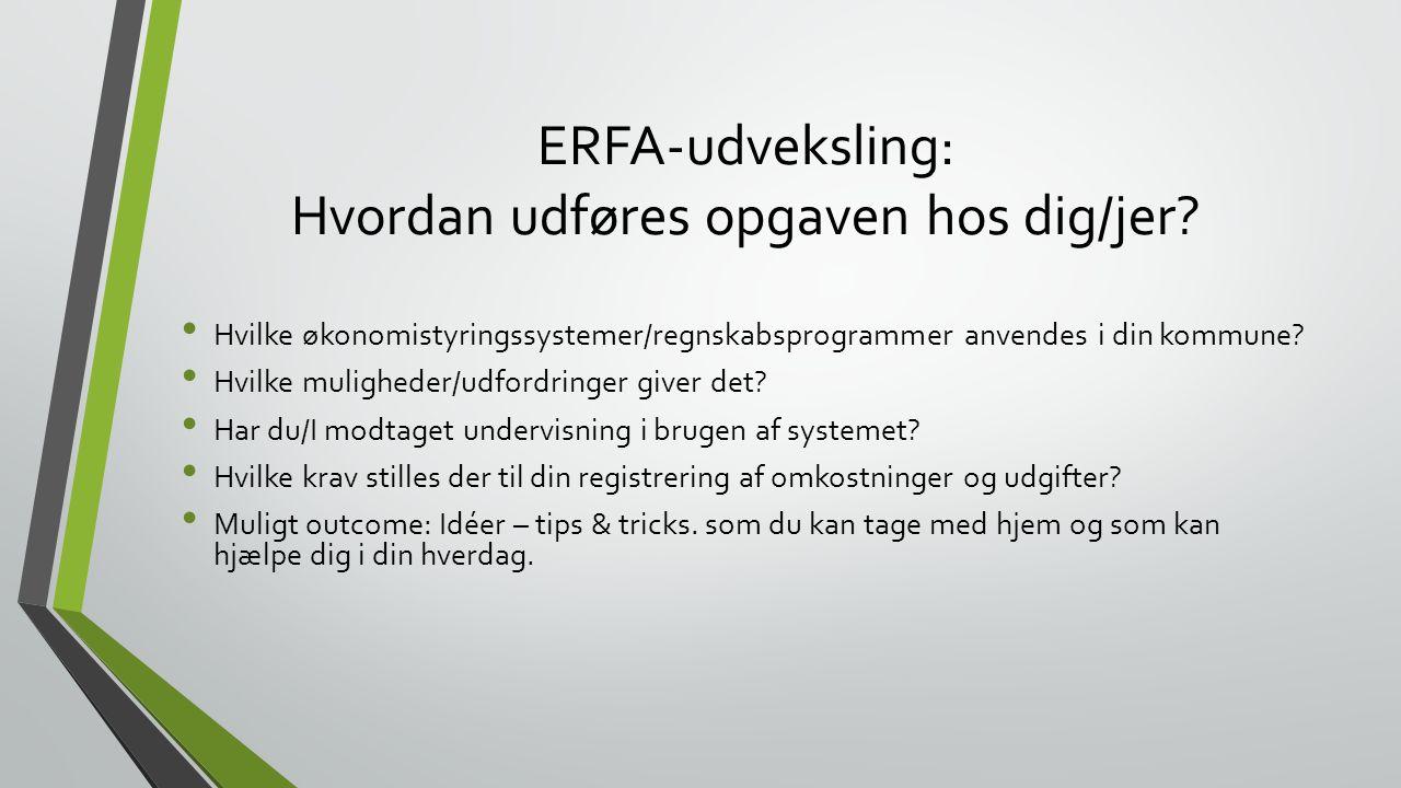 ERFA-udveksling: Hvordan udføres opgaven hos dig/jer