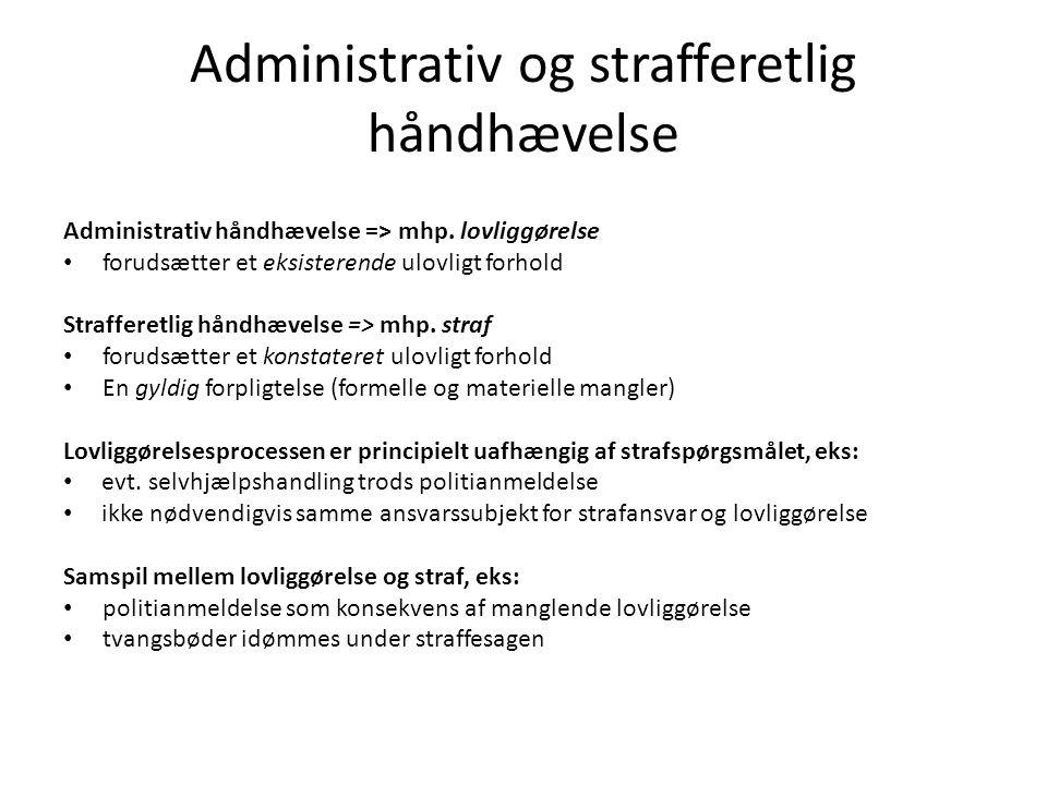 Administrativ og strafferetlig håndhævelse