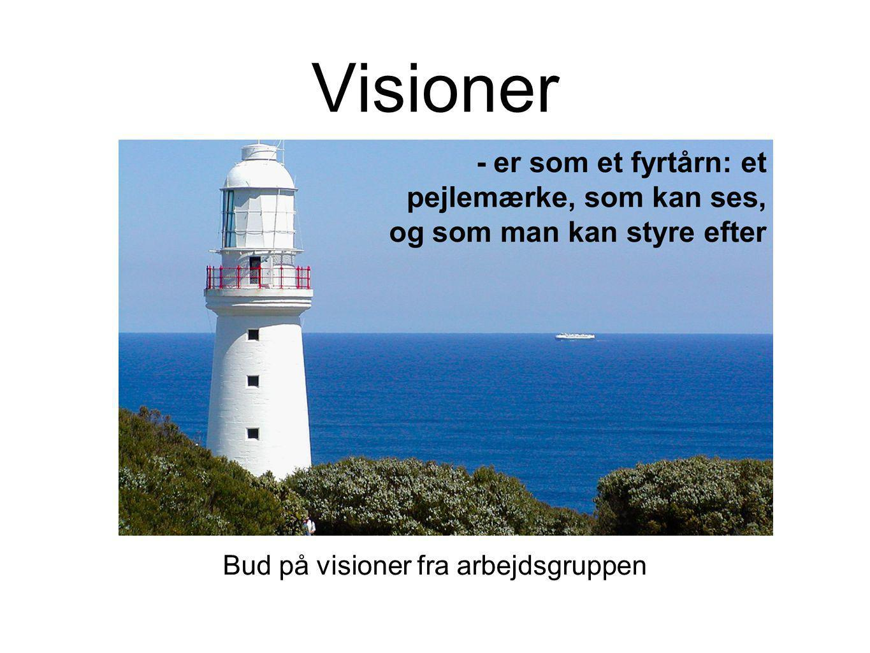 Bud på visioner fra arbejdsgruppen
