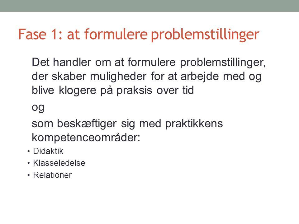 Fase 1: at formulere problemstillinger