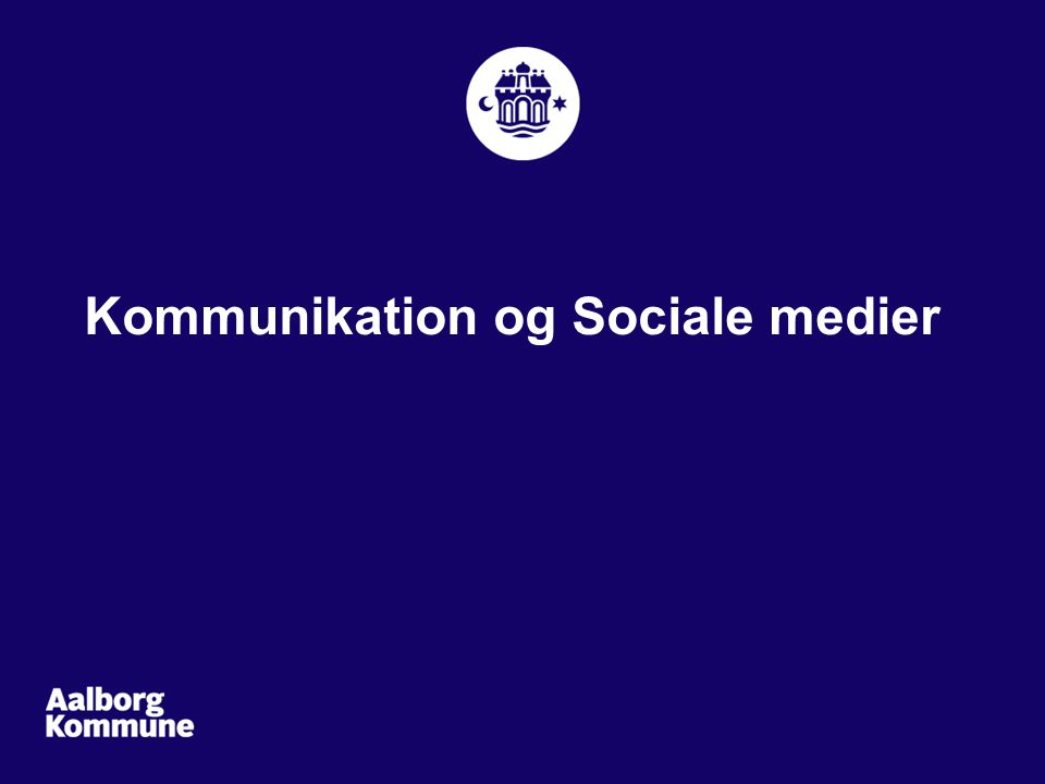 Kommunikation og Sociale medier
