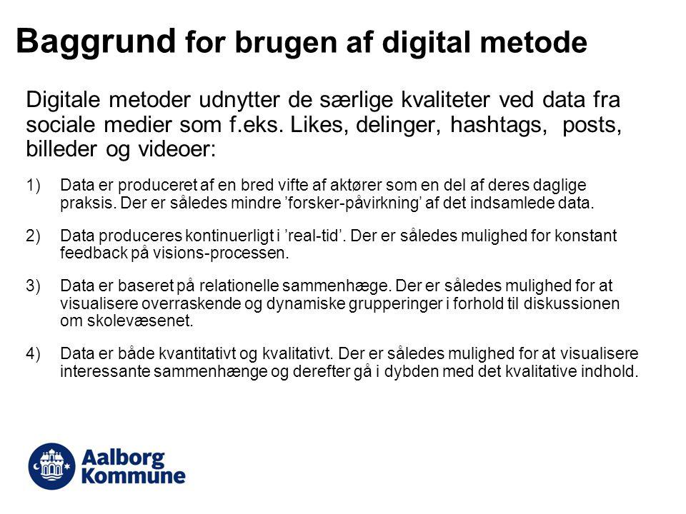 Baggrund for brugen af digital metode