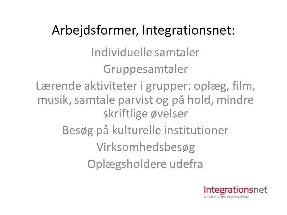 Arbejdsformer, Integrationsnet: