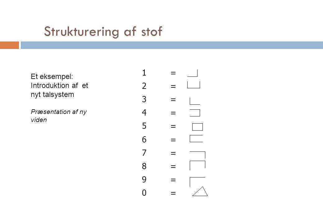 Strukturering af stof 1 = 2 3 4 5 6 7 8 9