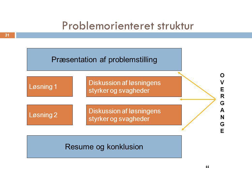 Problemorienteret struktur