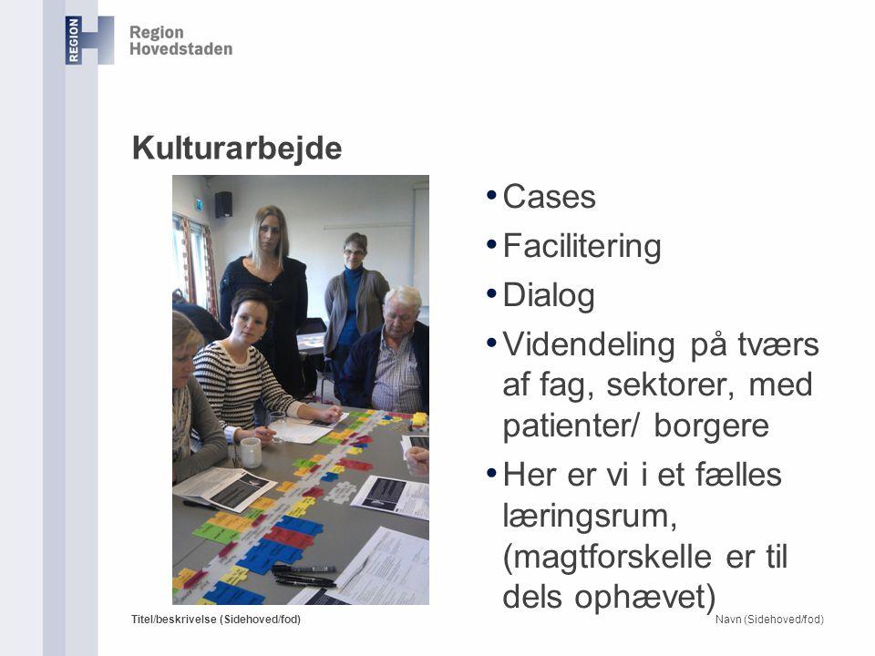 Videndeling på tværs af fag, sektorer, med patienter/ borgere