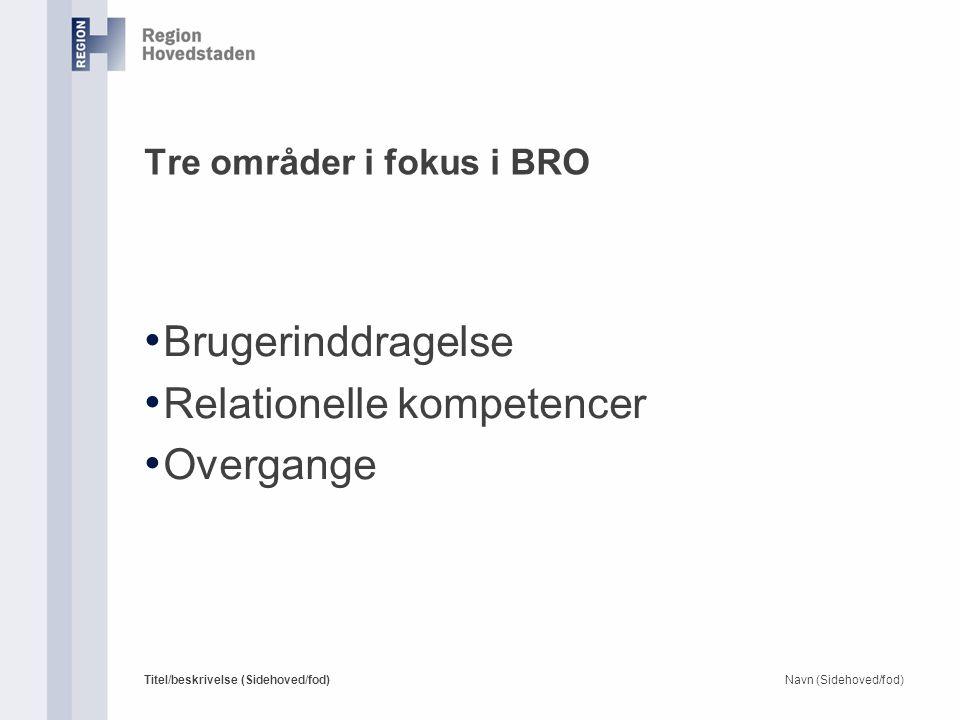 Tre områder i fokus i BRO