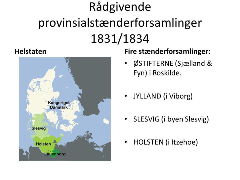 Rådgivende provinsialstænderforsamlinger 1831/1834