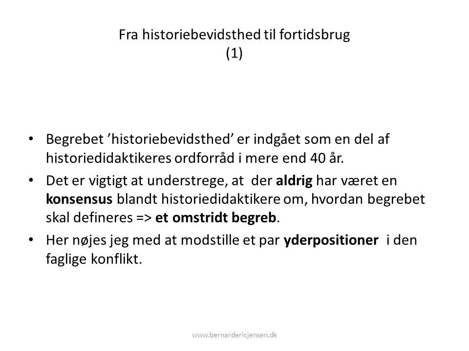Fra historiebevidsthed til fortidsbrug (1)