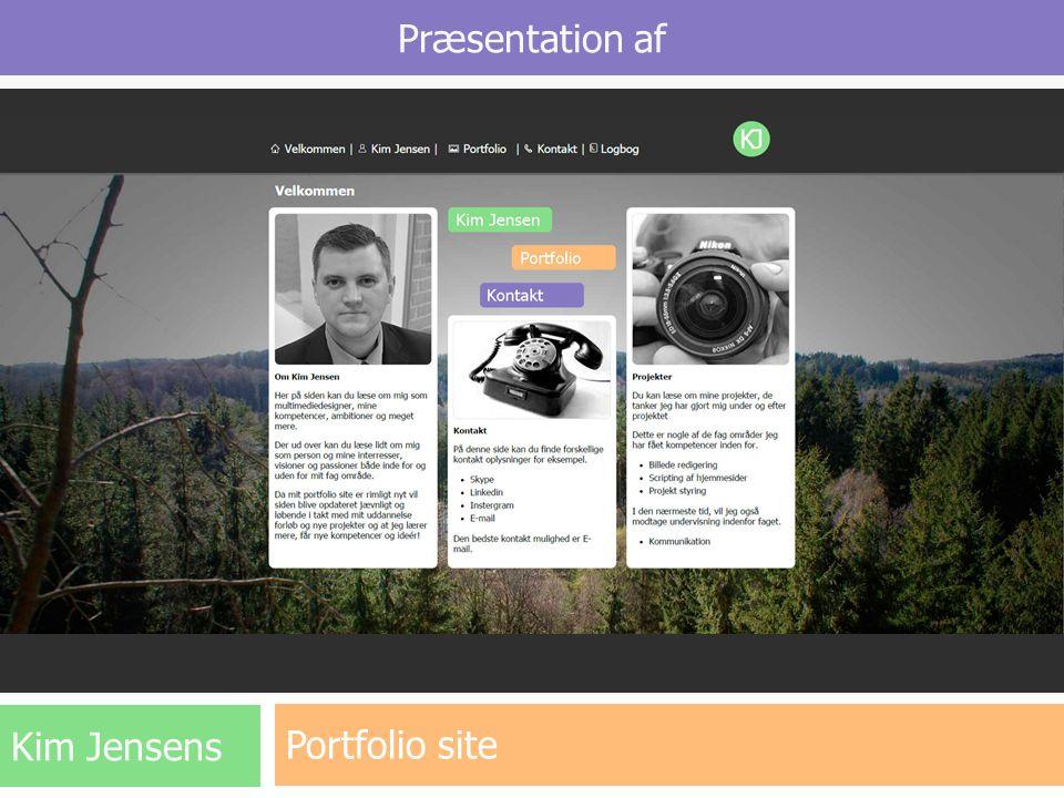 Præsentation af Portfolio site Kim Jensens