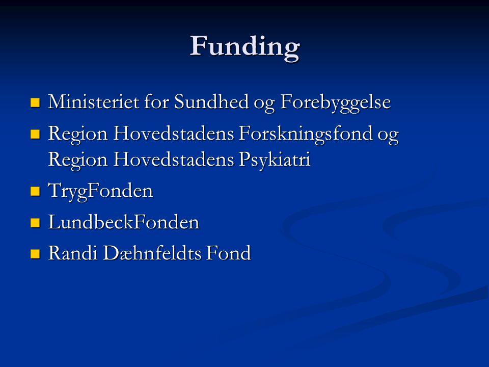 Funding Ministeriet for Sundhed og Forebyggelse