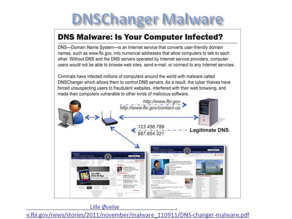 DNSChanger Malware http://w Lille Øvelse .