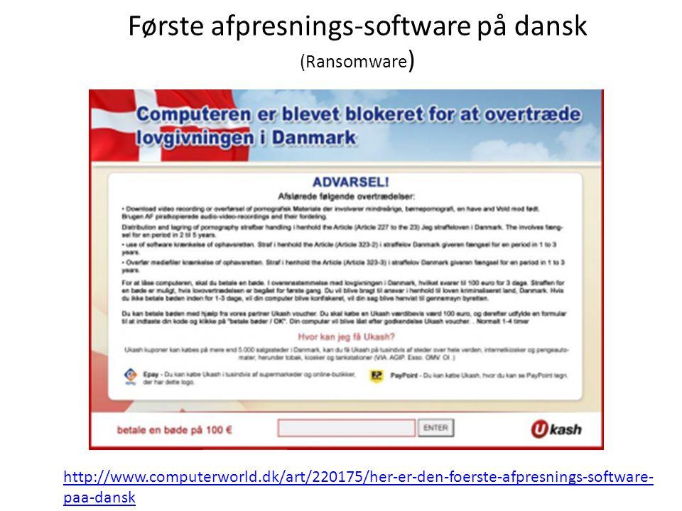 Første afpresnings-software på dansk (Ransomware)