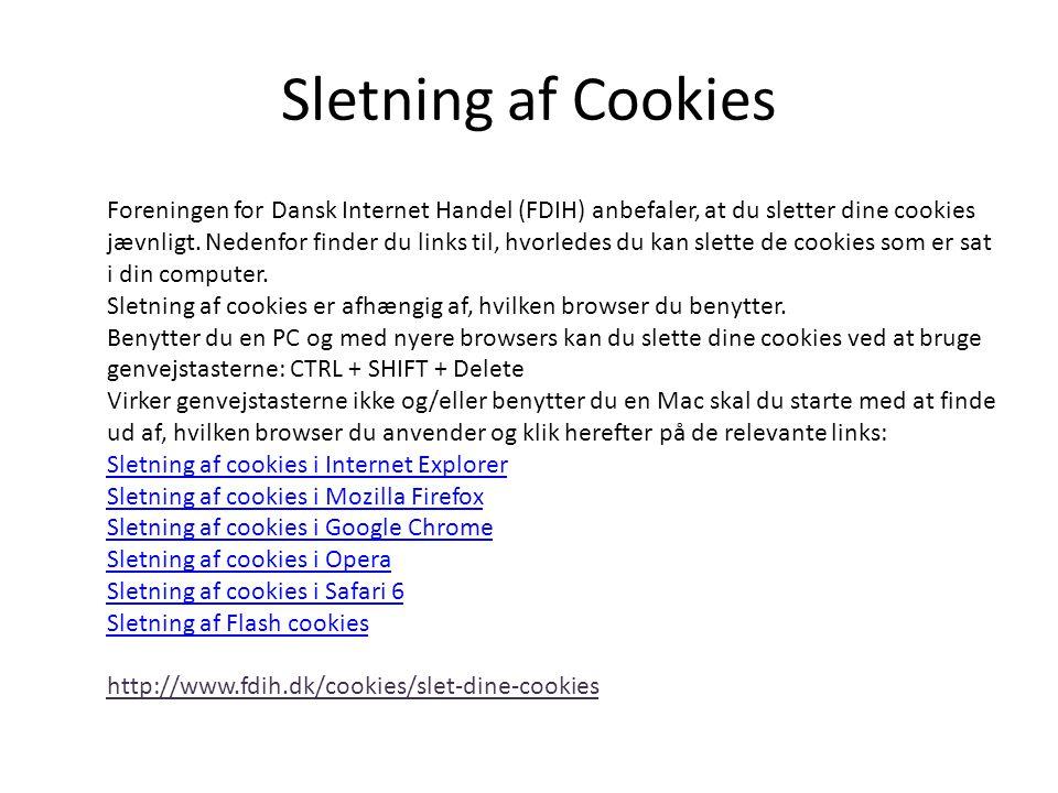 Sletning af Cookies