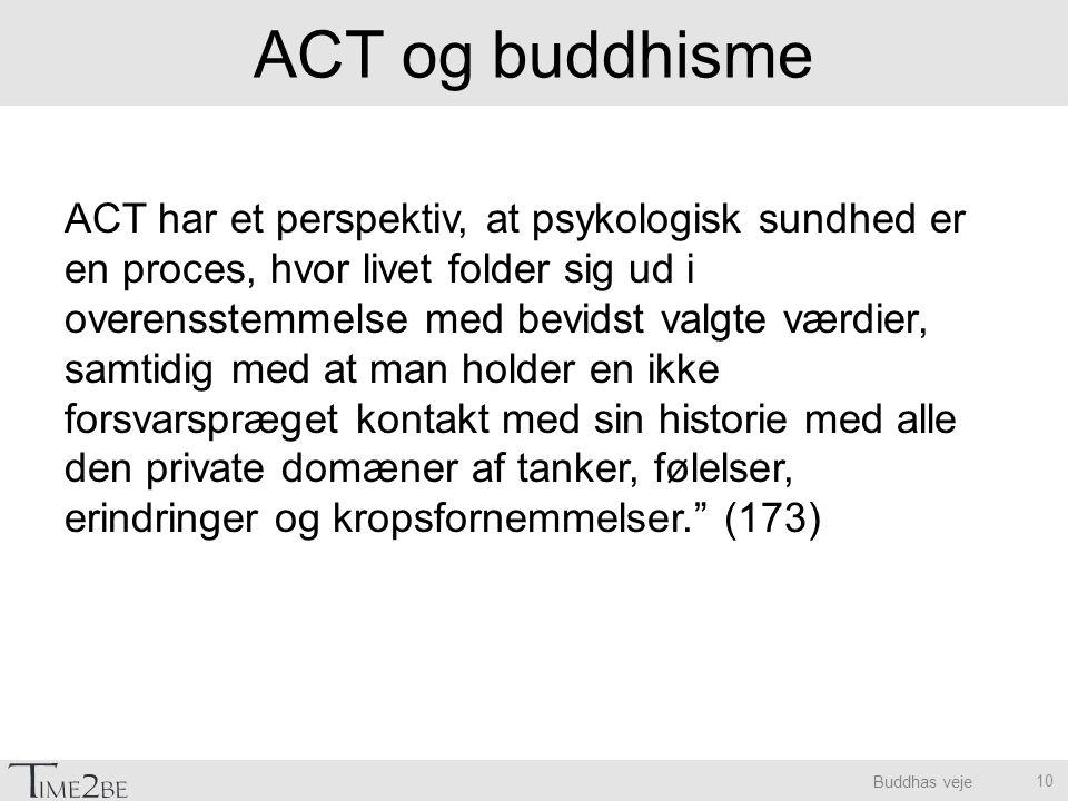 ACT og buddhisme